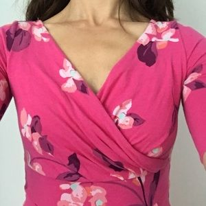 Lands End Fit and Flare Elbow Sleeve Dress XXS/P/0